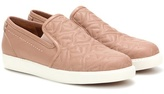 See by Chloe Embroidered leather slip-on sneakers