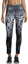 The North Face Super Waisted Printed Performance Leggings, TNF Black Geofire