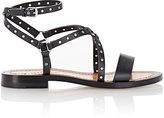 Valentino WOMEN'S ANKLE-WRAP SANDALS-BLACK SIZE 7