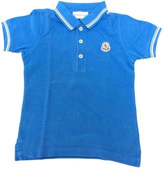 Moncler Blue Cotton Tops