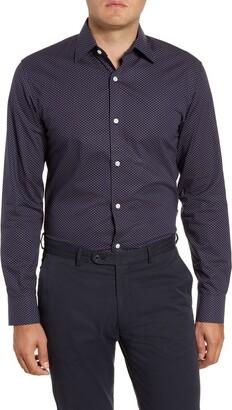 Bonobos Slim Fit Stretch Geo Print Dress Shirt