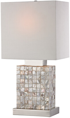 Artistic Home & Lighting 17In Mother-Of-Pearl Table Lamp