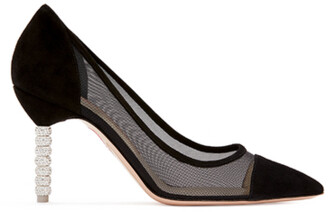 Sophia Webster Jasmine Crystal Mid Pump Black