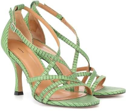 Ganni Wilma leather sandals