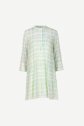 Samsoe & Samsoe Coral and Mint Green Tones ELM Short Dress - s