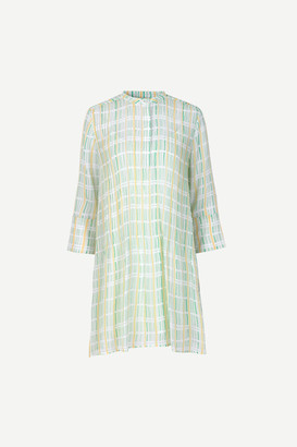 Samsoe & Samsoe Coral and Mint Green Tones ELM Short Dress - xs