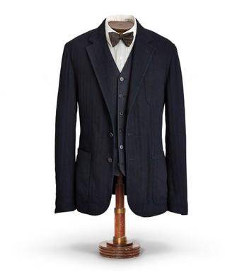 Ralph Lauren Indigo Herringbone Sport Coat