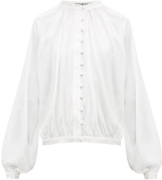 ÀCHEVAL PAMPA Gloria Silk-blend Satin Blouse - White