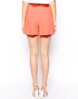 Asos High Waist Linen Shorts