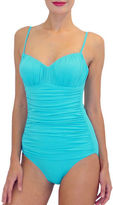 Fit 4 U Shirred Front One-Piece Tank Swimsuit