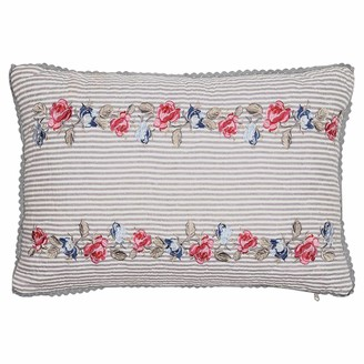 GreenGate Green Gate - Hailey With Embroidery Quilted Pillowcase - Grey/Blue/Red
