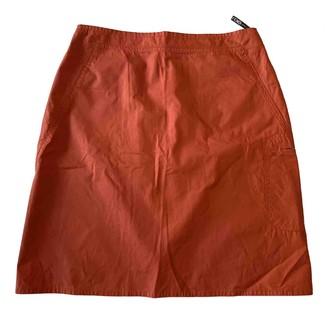 Fendi Orange Cotton Skirts