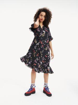 Tommy Hilfiger Printed Ruffle Shirt Dress