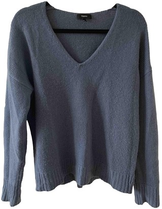 Theory Blue Cashmere Knitwear