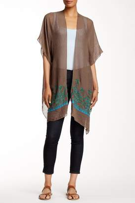 Rikka Sheer Brown Long Cardigan