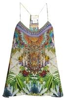 Camilla Exotic Hypnotic-print silk cami top