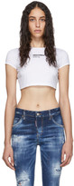 DSQUARED2 White Bella Fit Crop T-Shirt