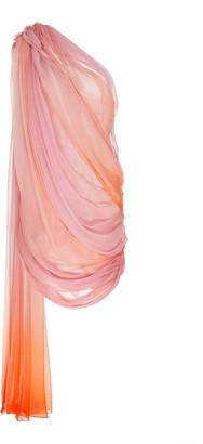 Oscar de la Renta Ombre Silk-Chiffon Dress