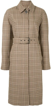 MSGM Checked Belted Trench Coat