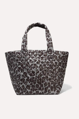 MZ Wallace Metro Medium Leopard-print Quilted Ripstop Tote - Black