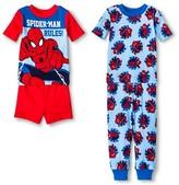 Spiderman Toddler Boys' 4-Piece Pajama Set Red