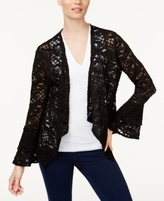 INC International Concepts Petite Lace Draped Jacket, Created for Macy's