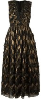 Dolce & Gabbana metallic chevron frayed dress