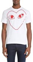 Comme des Garcons Men's Heart Outline Graphic T-Shirt