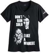 Disney Han Solo and Chewbacca runDisney Performance Tee for Women