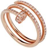 Cartier Pink Gold and Pavé Diamond Double Juste un Clou Ring
