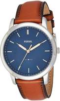 Fossil Men's FS5304 The Minimalist Three-Hand Light Leather Watch