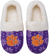 Unbranded Women's Clemson Tigers Ugly Knit Moccasin Slippers