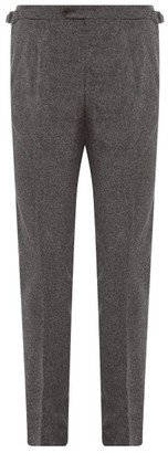 Thom Sweeney - Tailored Pintucked-pleat Wool Trousers - Grey