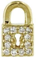 Sydney Evan Diamond Pavé Key Hole Lock Stud Earring