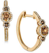 LeVian Le Vian Chocolatier Diamond Hoop Earrings (3/8 ct. t.w.) in 14k Gold