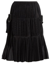 Toga Accordion-pleated taffeta skirt