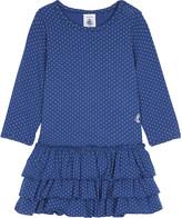 Petit Bateau Polka dot tiered skirt cotton-blend dress 3-36 months