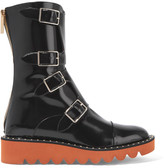 Stella McCartney Faux Patent-leather Boots - Black