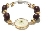 Thumbnail for your product : Tohum Evil Eye 24kt Gold-plated Bracelet - Purple