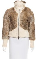 Christian Lacroix Fur Wool-Trimmed Jacket