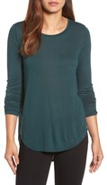 Halogen Petite Women's Shirttail Tee