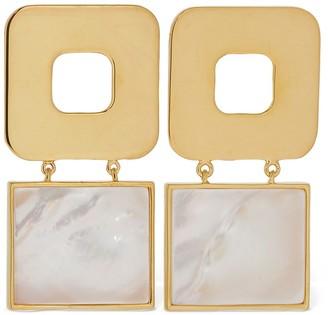 Lizzie Fortunato Geo Pearl Earrings