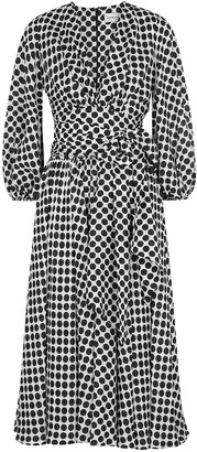 Alexandre Vauthier Monochrome polka-dot silk midi dress