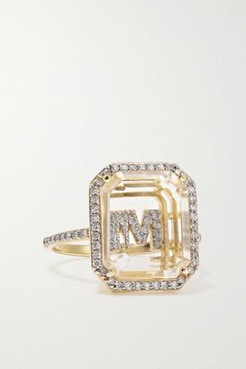 Mateo 14-karat Gold, Crystal And Diamond Ring - E 6