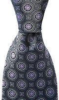 Daniel Cremieux Big & Tall Medallion Dial Traditional Silk Tie