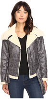 Kenneth Cole New York Biker Jacket with Sherpa Collar