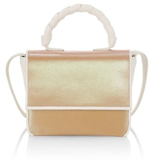 Nancy Gonzalez Small Linen & Leather Bag