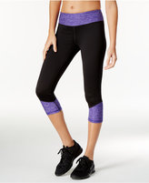 Ideology Rapidry Colorblocked Performance Capri Leggings, Only at Macy's