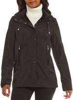 Antonio Melani Velvet Trim Light Weight Windbreaker