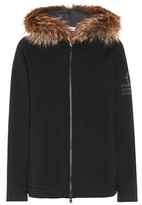 Brunello Cucinelli Fur-trimmed cotton-blend jacket